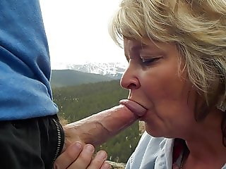 Granny shows off her oral skills in nature