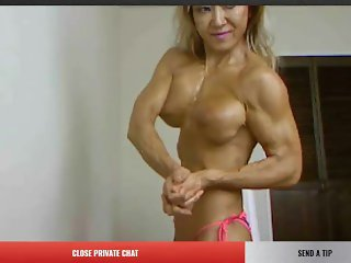 Oiled FBB Asian Milf on cam