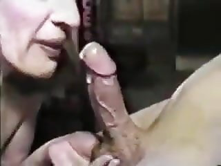 Beautiful Blonde Milf Sucks The Cum Out