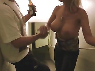 The girl was returning with a booze and fucked her