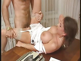 Horny girls on table top