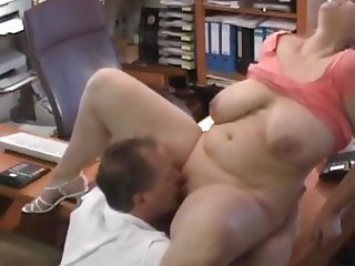 Heavy and Very Busty Amateur BBW Getting New Job