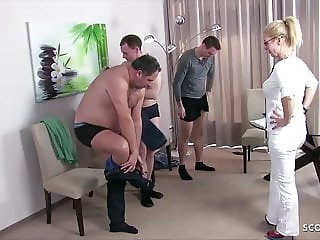 German Female MILF Doctor Kissi Kiss Group Sex at Check Up