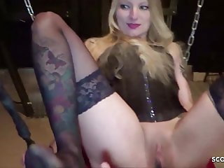 Teen Slave Kitty Blair in BDSM Fuck and Rimjob - German