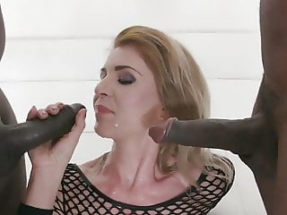 Sindy Rose piss whore anal fisting & rough DAP until hot cum