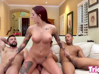Trickery - Tana Lea gets tricked into her first gangbang