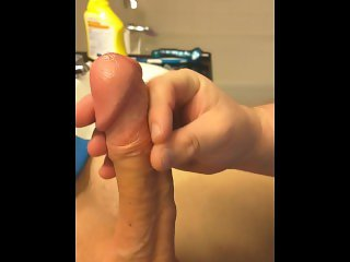 Young femboy cums for the camera