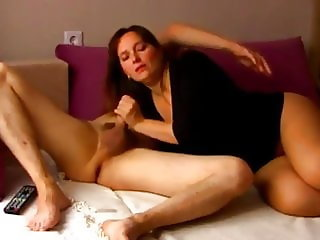 Desperate Divorced Wife Invited Her Young Neighbor Watch TV