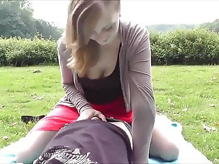 Innocent Amateur College Teen Takes Messy Creampie in Park