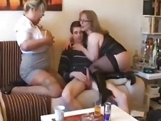 Skinny Nerd Can't Say No To Mature MILF and Busty BBW