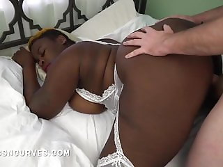 Big Black Butt was so inviting for his white cock