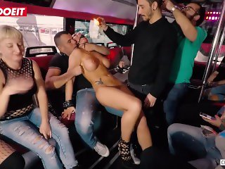 LETSDOEIT - Hot Milf Deborah Diamond Gets Kinky Torture In the Party Bus
