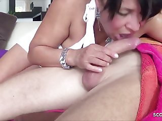 German Housewife Leila Cheat Husband with Friend of her Son