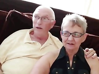 old couple invinced their young neighbor to fuck