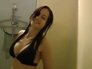 Amateur German couple having risky sex in the changing room