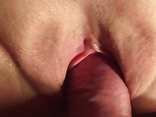 Cumming inside my wife's 45 yo mother of 3 sex hole
