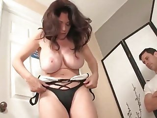 shameless busty mature wife made her neighbor cum twice