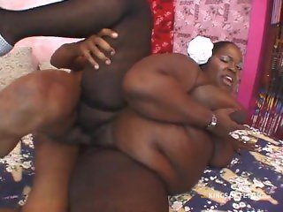 Black BBW gets plenty of hard chocolate