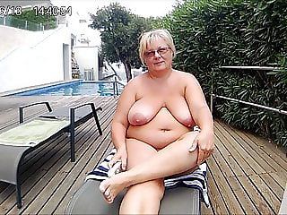 Anneli totally naked in front of you