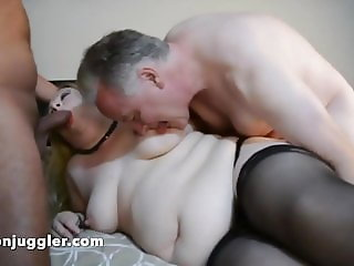 Selena Secret fucked by two older men