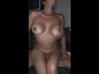 husband films his naughty busty wife having fun with he ex