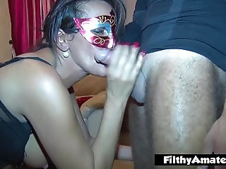 Two wives scream and have multiple orgasms in real home orgy