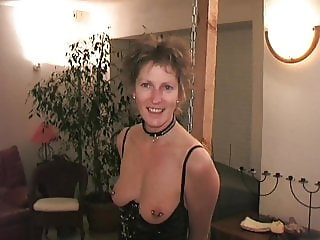 Slave has her tits pierced 4mm (6ga)