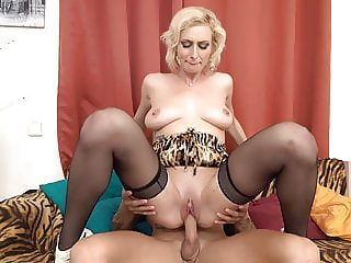 Pale busty mothers having taboo sex with sons