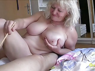 OldnannY Busty Round Matures Playing with cock