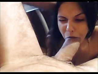 Italian woman swallows a big dick and swallows sperm