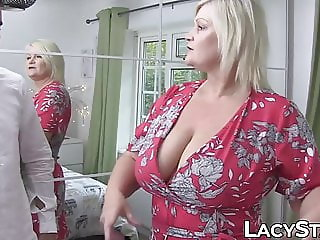 British granny Lacey Starr riding foreign cock for cumshot