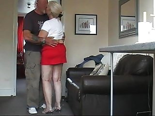 Stripping my 64 year old granny naked and feeding her my cum