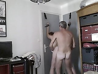 Tied, well wanked and hand in pussy like inseminate