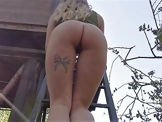 Amazing Fiona Fuchs gets fucked in the forest - POV