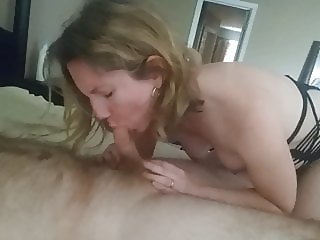 Wife Becky Sucks and Grinds to Orgasm