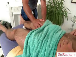 Lucky dude gets amazing massage part2