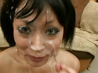 yuki mori is a slut who loves bukkake