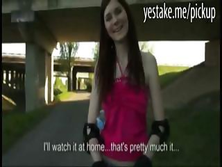 Rollergirl picked up and is doggystyled in nature for some cash
