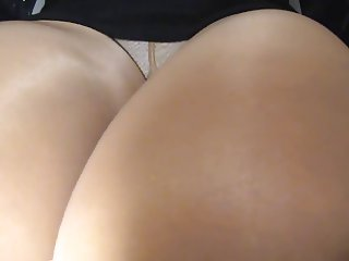 crossdresser pantyhose upskirt legs in black