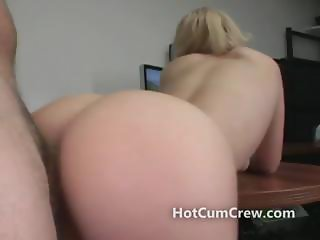 Bubble white booty doggystyle fucked by a big cock