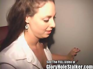 Cheating Wife Drains Stranger's Gloryhole Cocks For Their Cum
