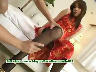 Ayane innocent asian girl enjoys a hard core fucking