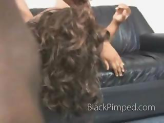 Rough black on black face fucking from a mean old pimp