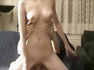 beautiful chick in hot riding on homemade