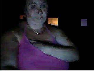 Fat whore with massive tits on webcam