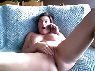Chubby Double Orgasm through phone sex