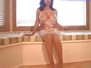 Sexy Indian Milf in See-through Lingerie
