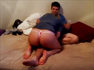 redhead with amazing ass fucked on homemade