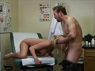 Sexy patient fuck her doctor and swallow his sperm