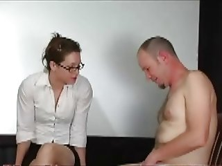Man in panties punished by teacher